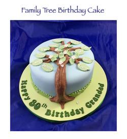 Family Tree Birthday Cake