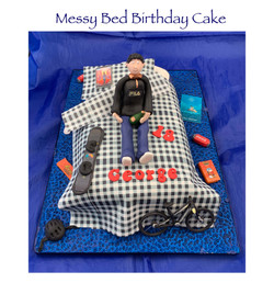 Messy Bed Cake - George