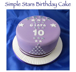 Simple Stars Birthday Cake