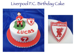 Liverpool FC Birthday Cake (Lucas)