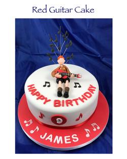Red Guitar Cake
