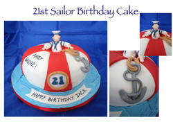 21st Sailor Cake
