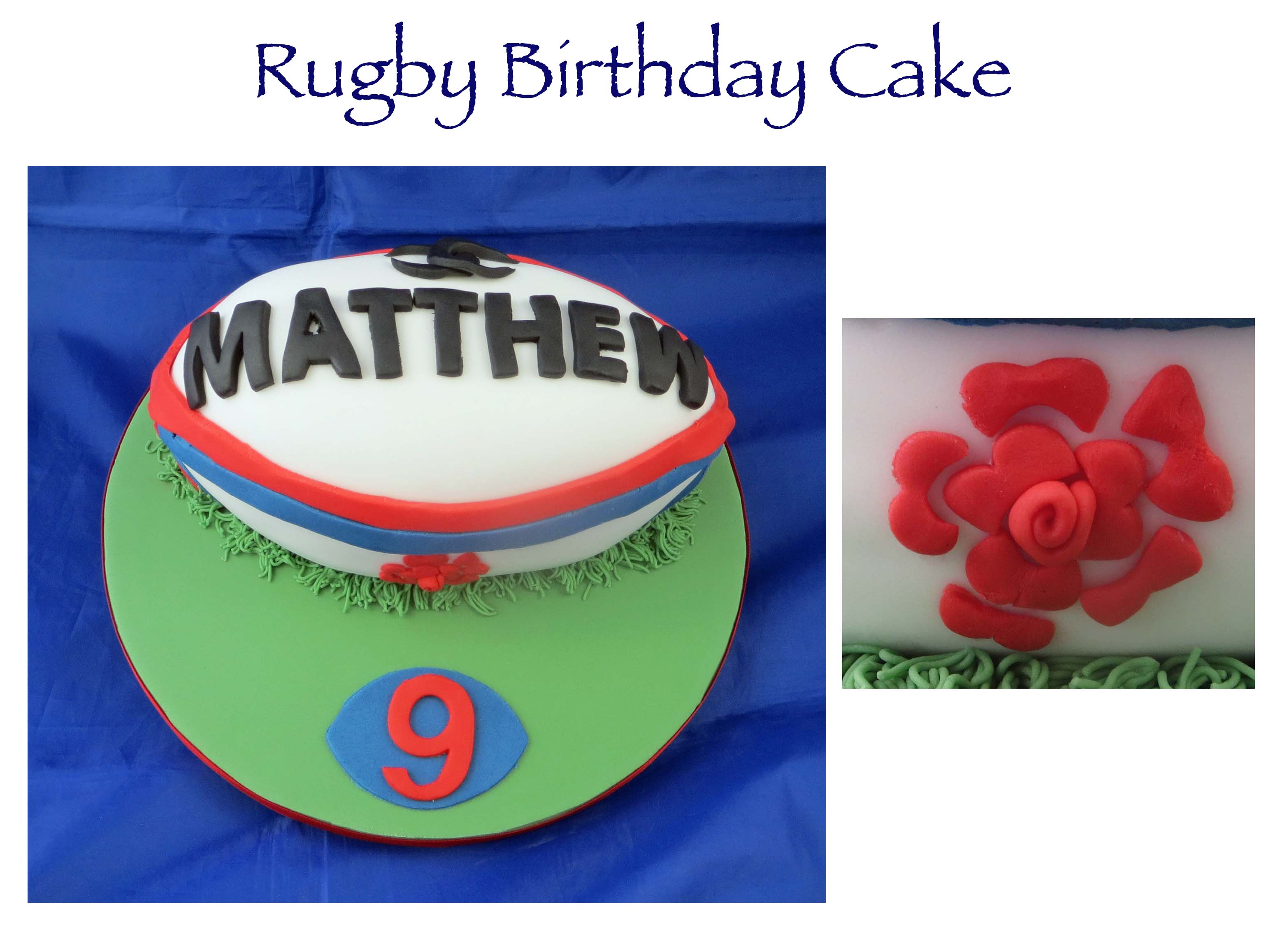 England Rugby Cake