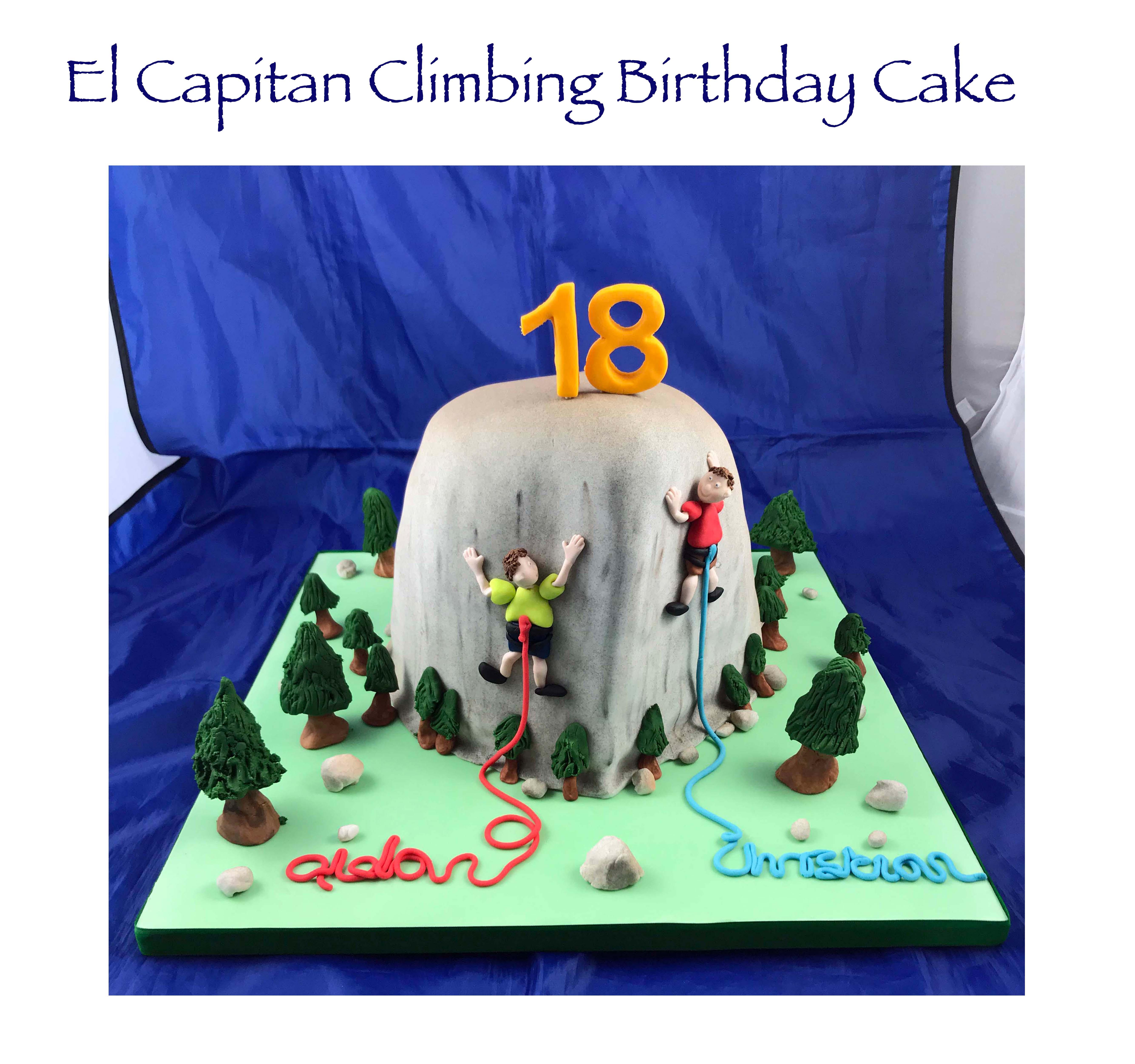 El Capitan Climbing Birthday Cake