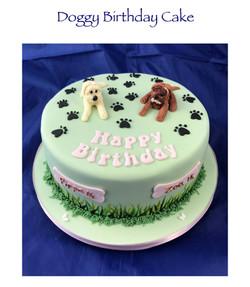 Doggy Birthday Cake
