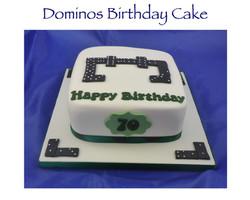 Dominos Birthday Cake