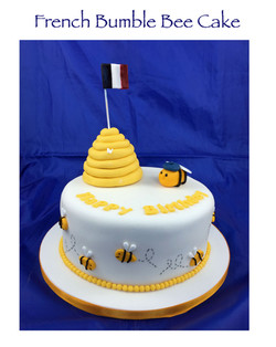French Bumble Bee Cake