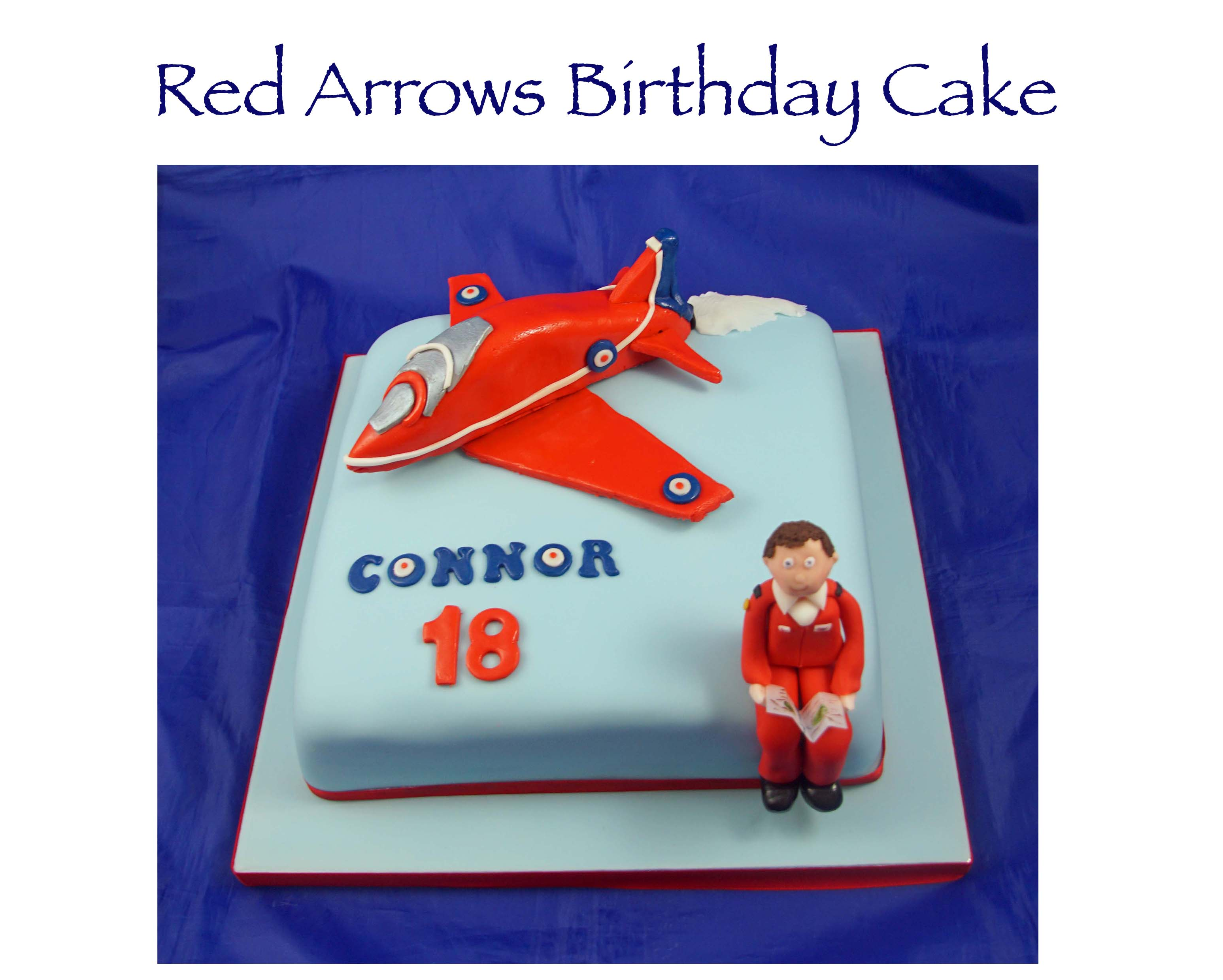 Red Arrows Birthday Cake