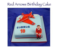 Red Arrows Birthday Cake