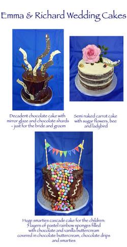 Emma and Richard's Wedding cakes