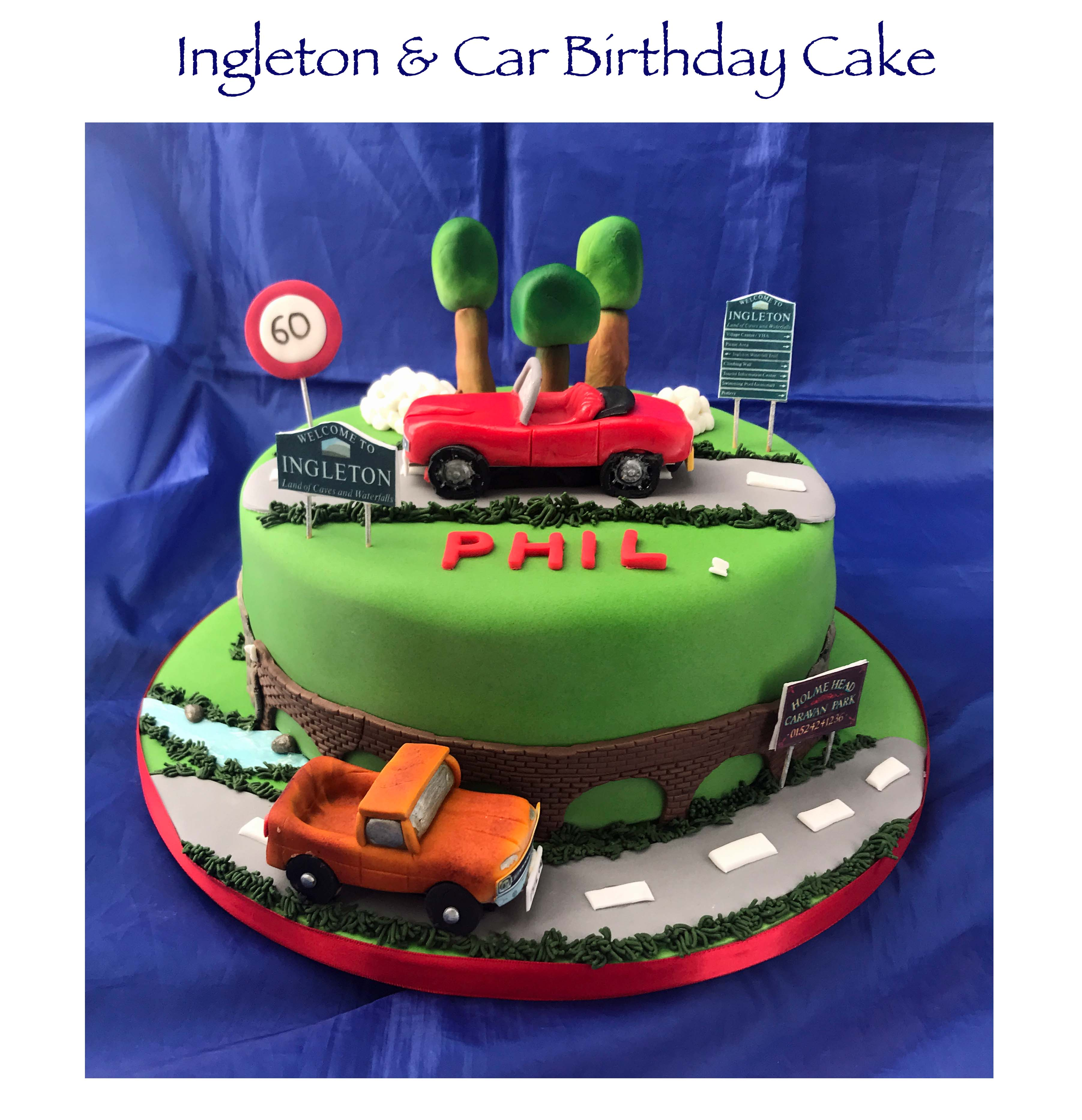 Ingleton and Car Birthday Cake