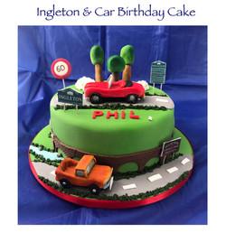 Ingleton and Car Birthday Cake