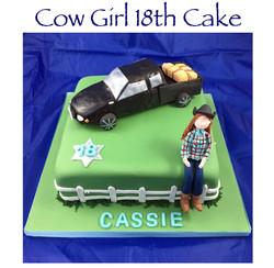 Cow Girl 18th Birthday Cake