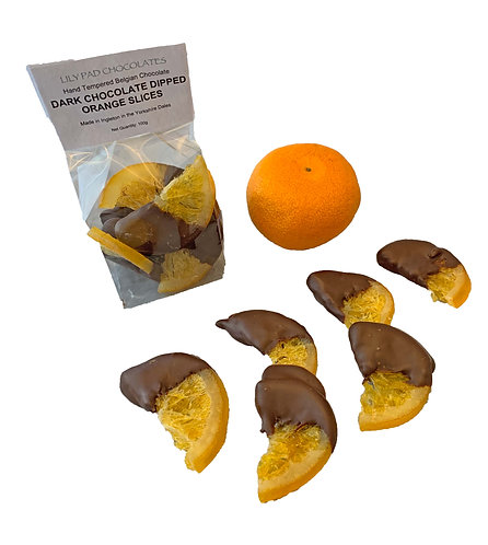Dark Chocolate Dipped Oranges