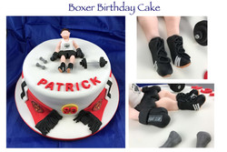 Boxer & Man Utd Birthday Cake