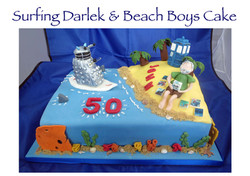 Surfing Darlek and Beach Boys Cake