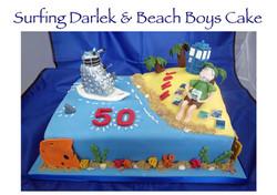 Surfing Darlek and Beach Boys Cake
