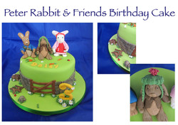 Peter Rabbit and Friends Birthday Cake