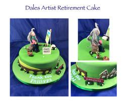 Dales Artisit Retirement Cake