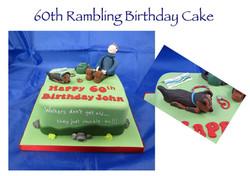 60th Birthday Rambling Cake with dog