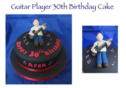 Guitair Player 30th Birthday Cake