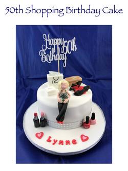 50th Shopping Birthday Cake