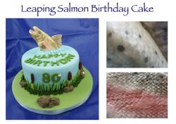 Leaping Salmon Birthday Cake