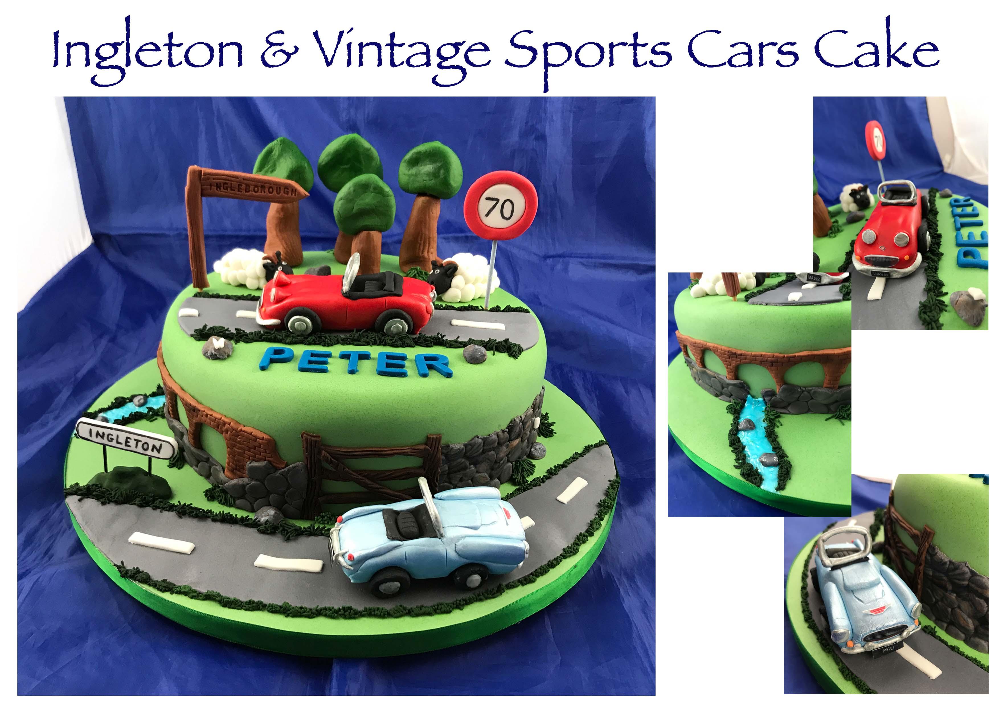 Ingleton & Vintage Sports Cars Cake