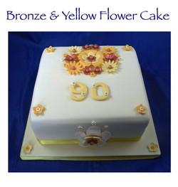 Bronze Flower Cake