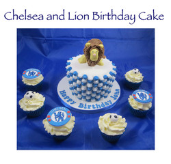 Chelsea and Lion Cake