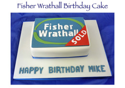Fisher Wrathall Birthday Cake