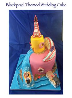 Blackpool Themed Wedding Cake