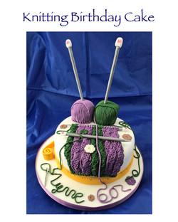 Knitting Birthday Cake