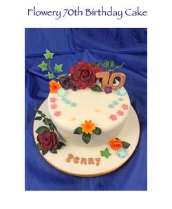Penny's 70th Birthday Cake