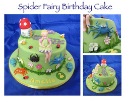 Spider Fairy Birthday Cake