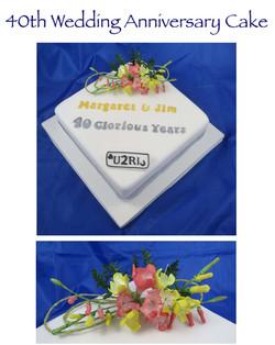 40 Glorious Years Cake