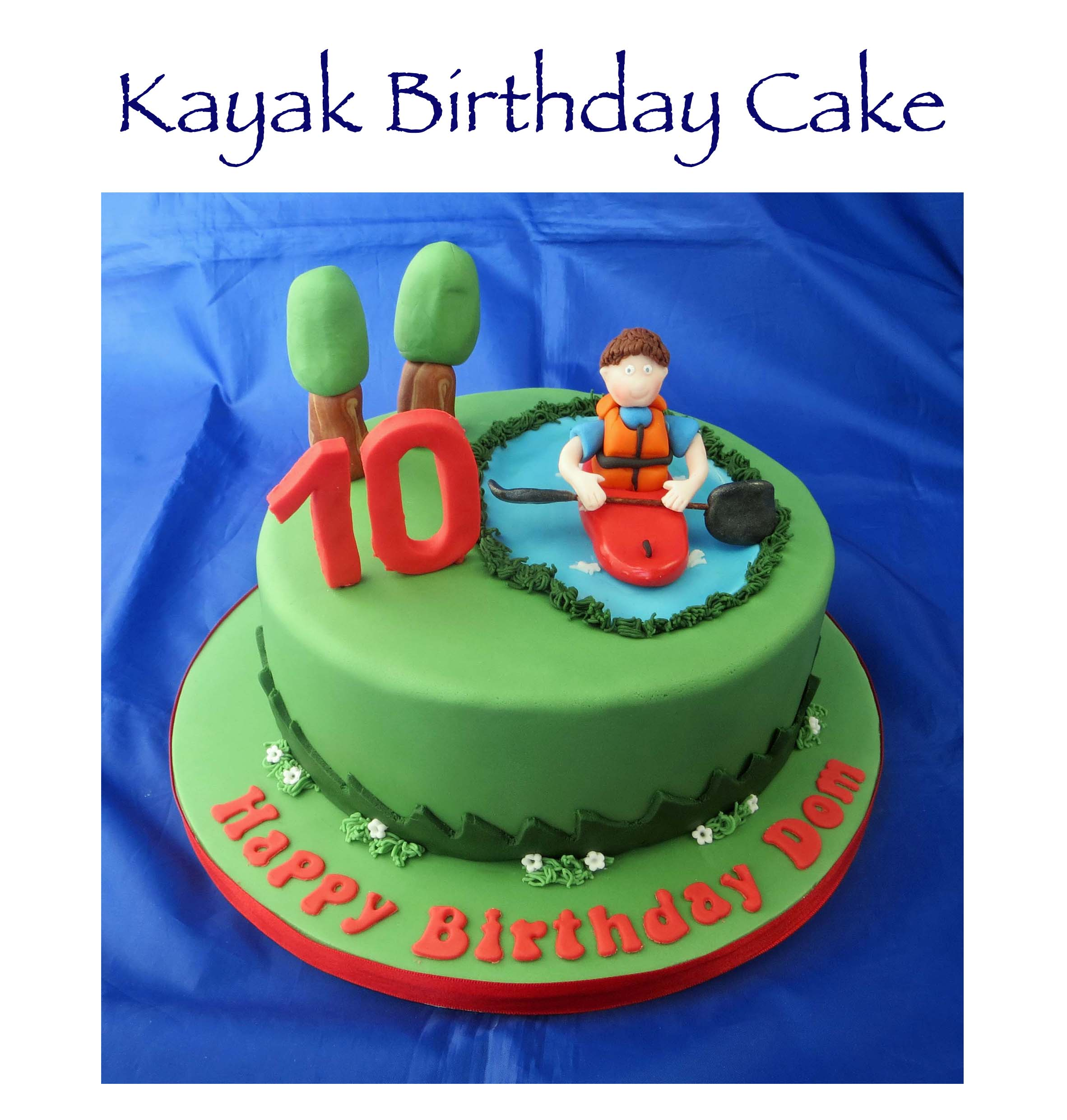 Kayak Birthday Cake