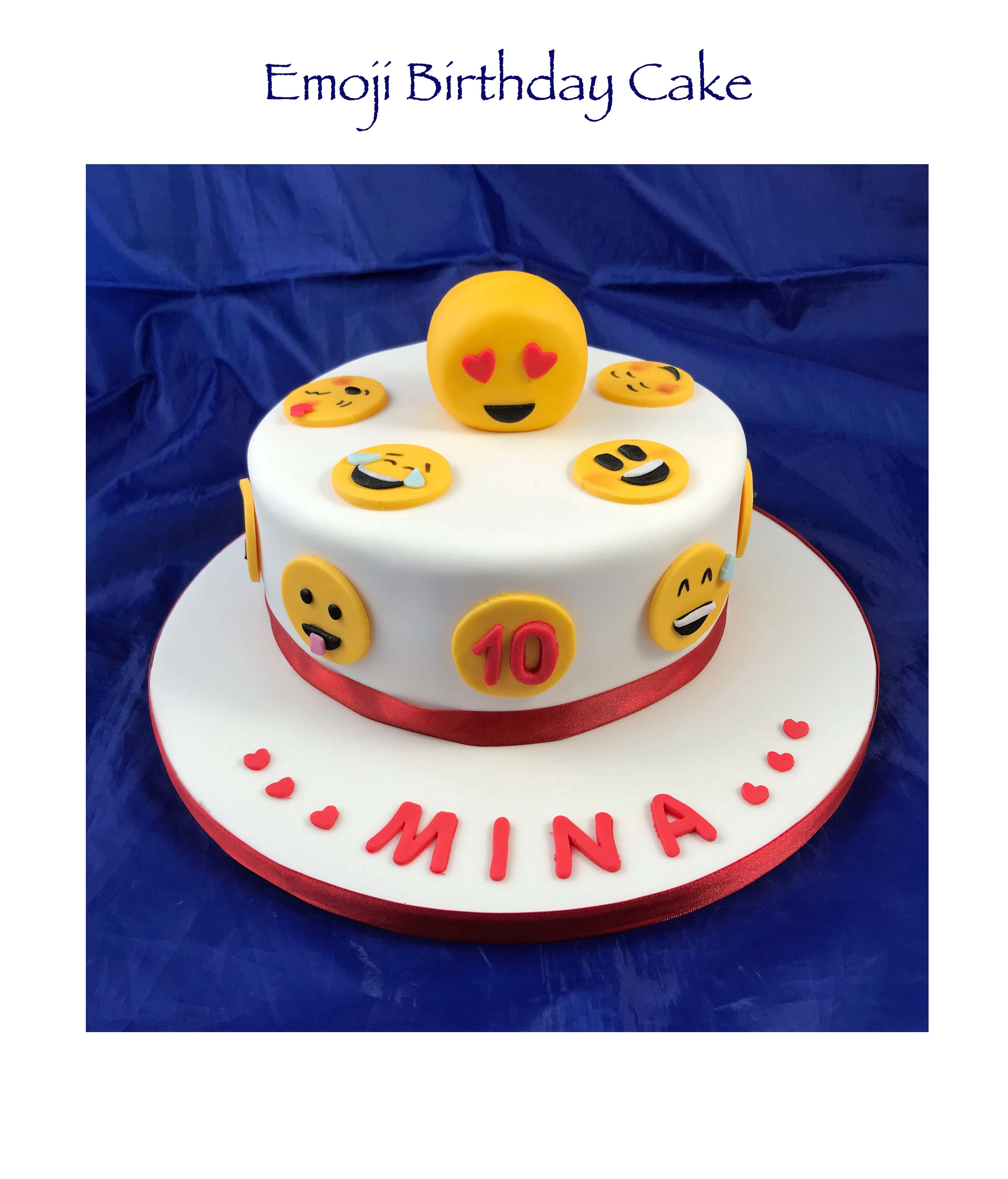 Simple Emoji Cake