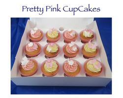 Pretty Pink Cupcakes (butterflies and flowers)