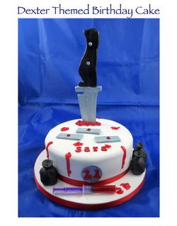 Dexter Themed Birthday Cake