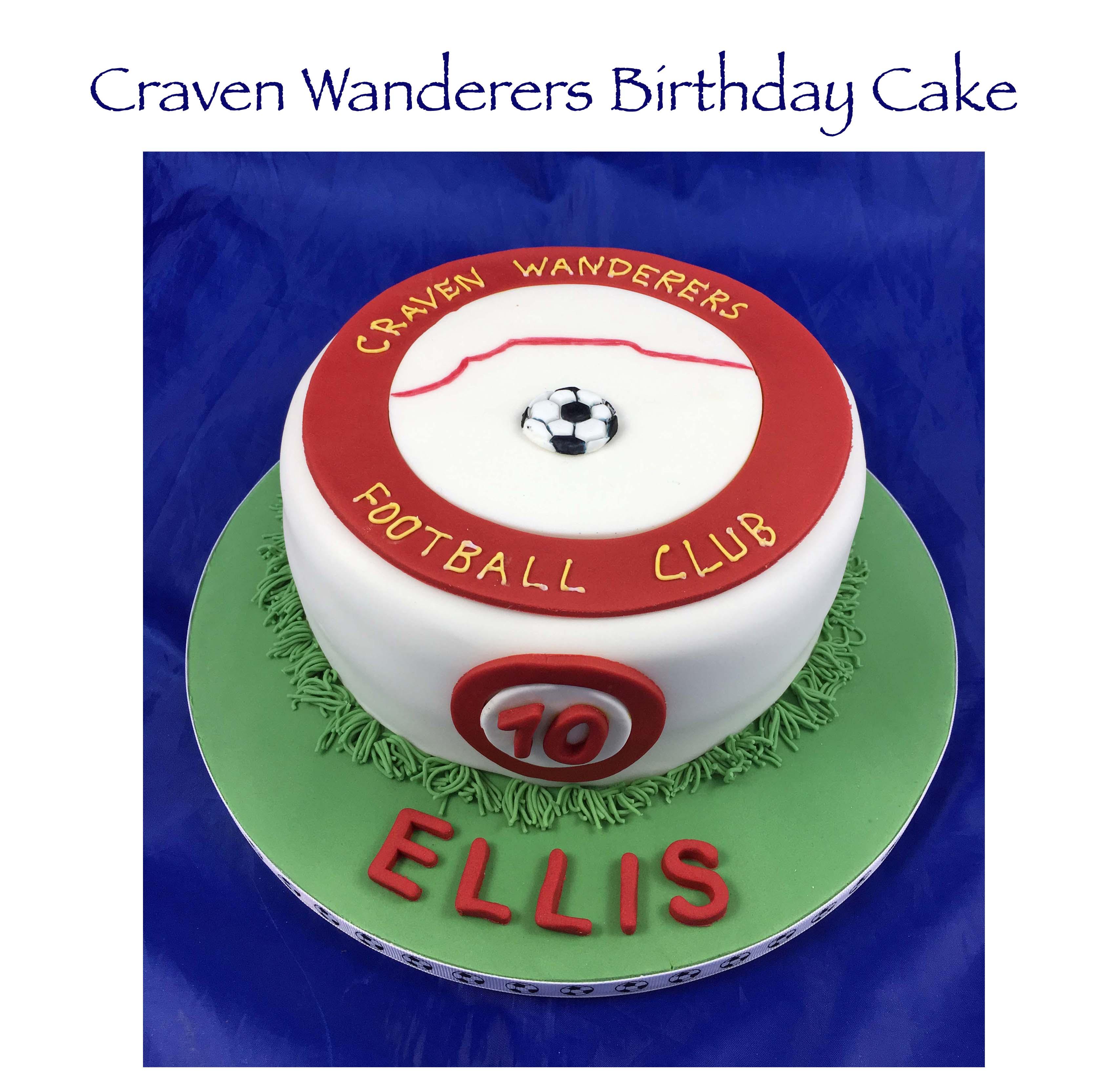 Craven Wanderers Birthday Cake