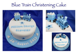 Blue Train Christening Cake