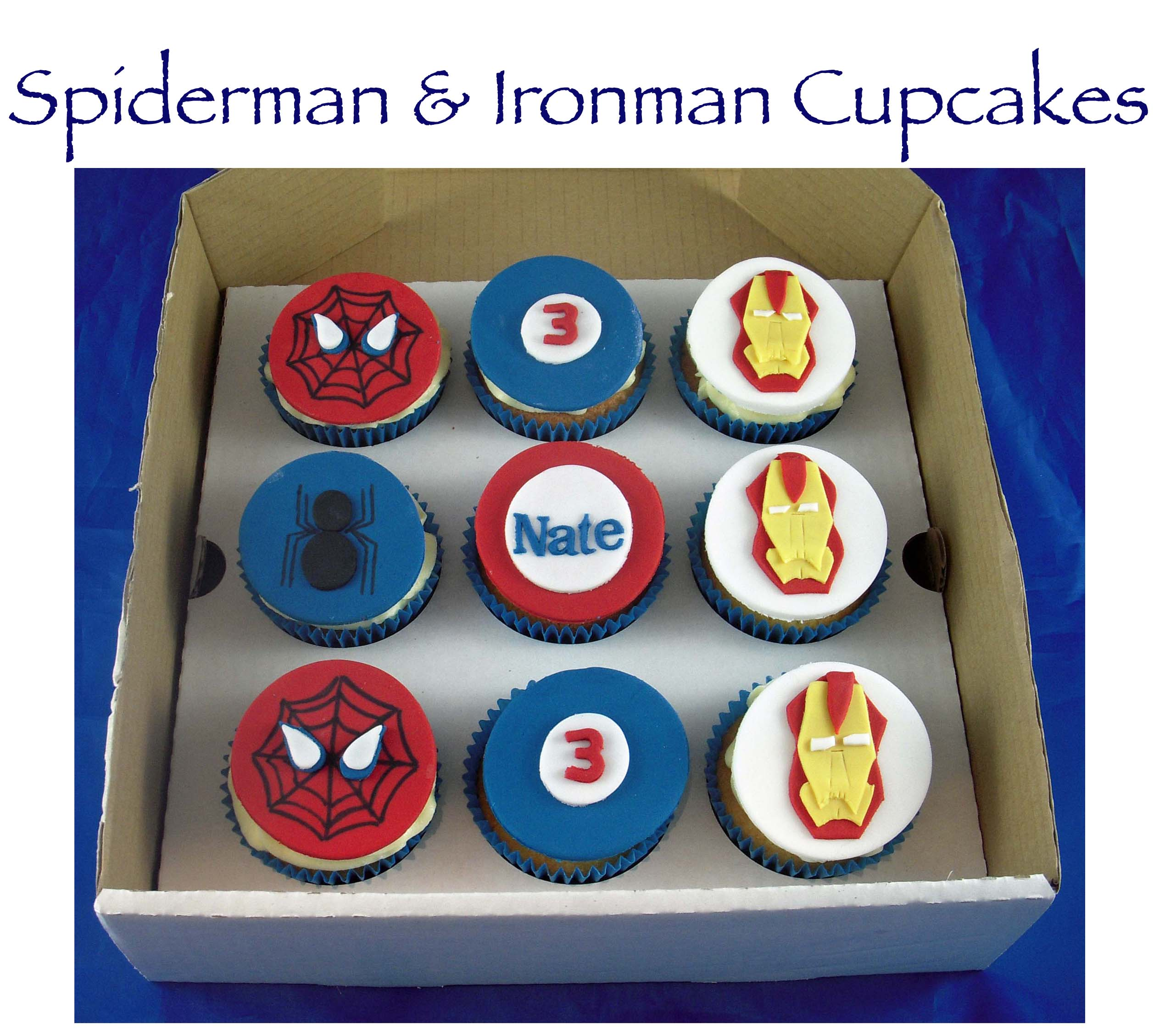 Spiderman and Ironman Cupcakes