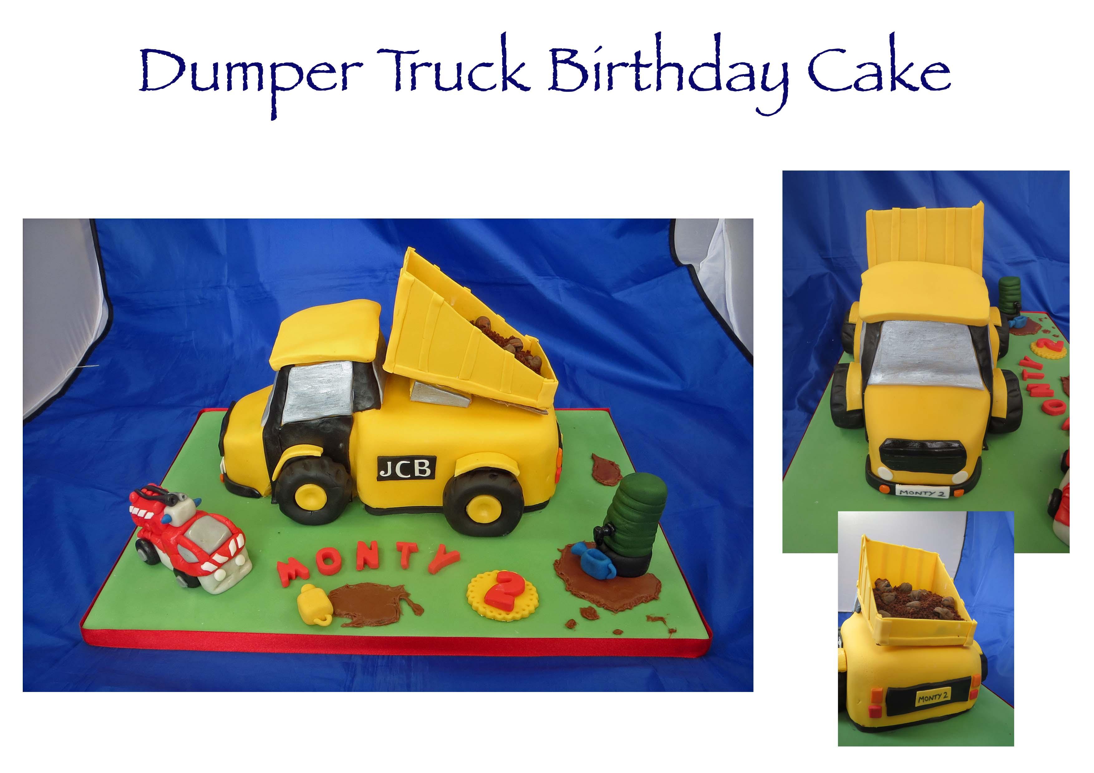 Dumper Truck Birthday Cake
