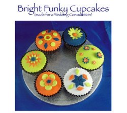 Bright Funky Cupcakes