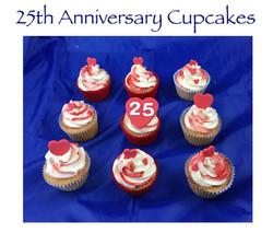 25th Wedding Anniversary Cupcakes