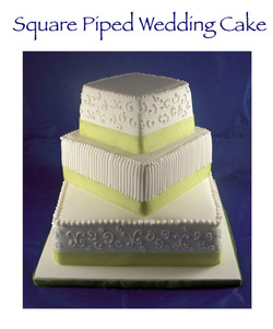 Square Piped Wedding Cake