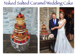 Naked Salted Caramel Wedding Cake