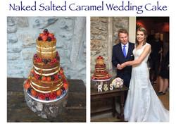 Naked Salted Caramel Wedding Cake