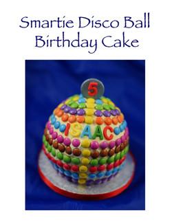 Smartie Disco Ball Birthday Cake